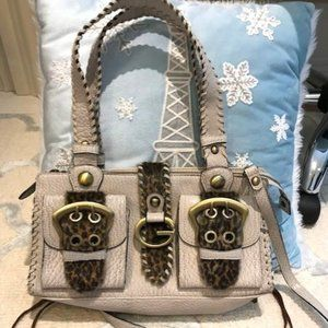 Guess Purse with Animal Print and Buckles - NWOT